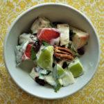 lovage apple salad