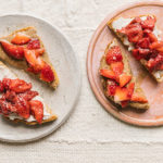 strawberry toast with almond butter
