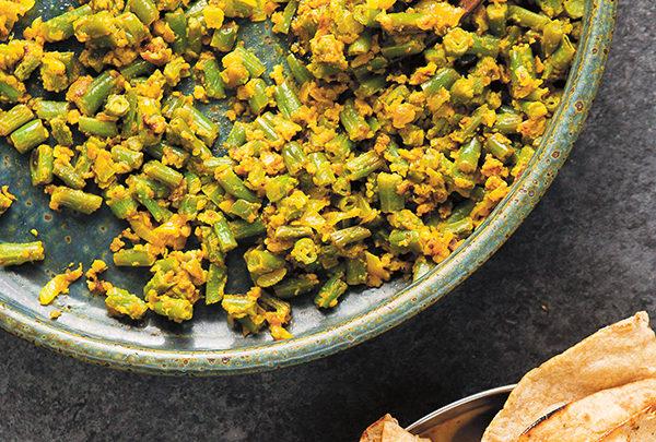 chickpea flour green beans