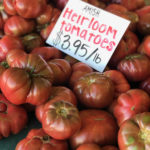 heirloom tomatoes at an Amish market
