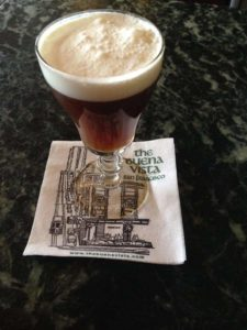 Irish coffee at the Buena Vista cafe