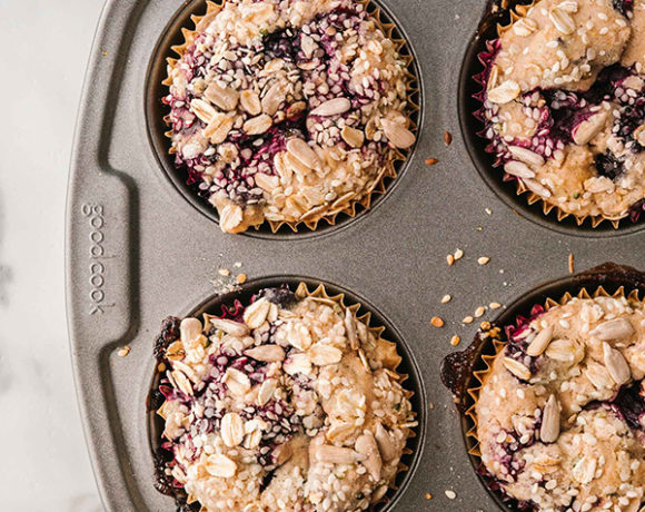 seeded blueberry muffins