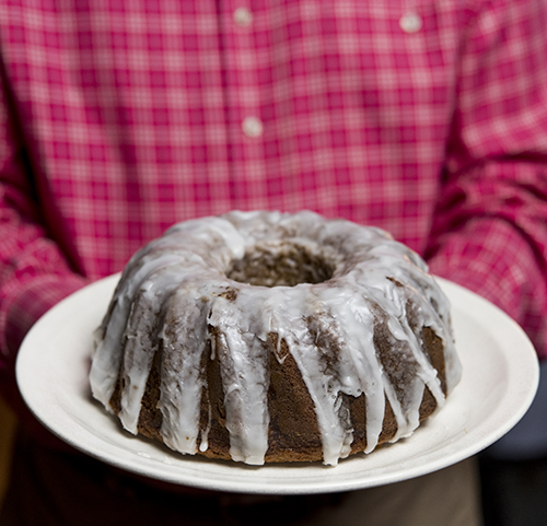 glazed applesauce cake