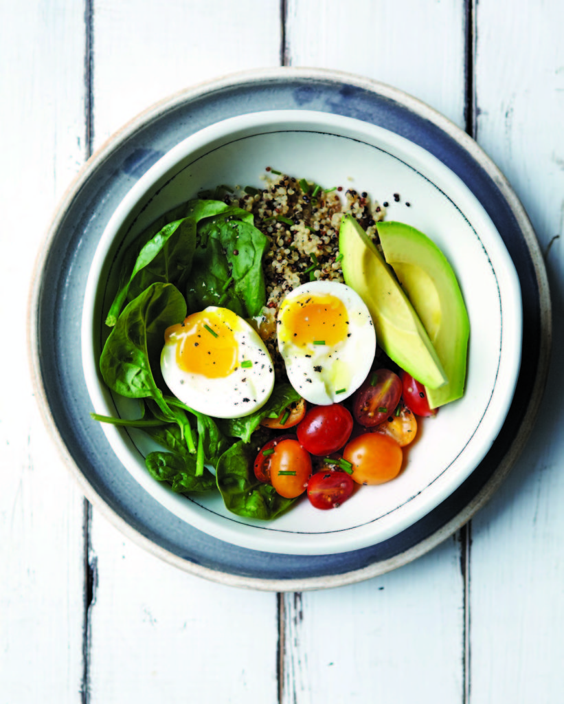 savory quinoa bowl