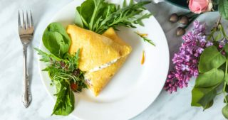 French omelette recipe with edible flowers