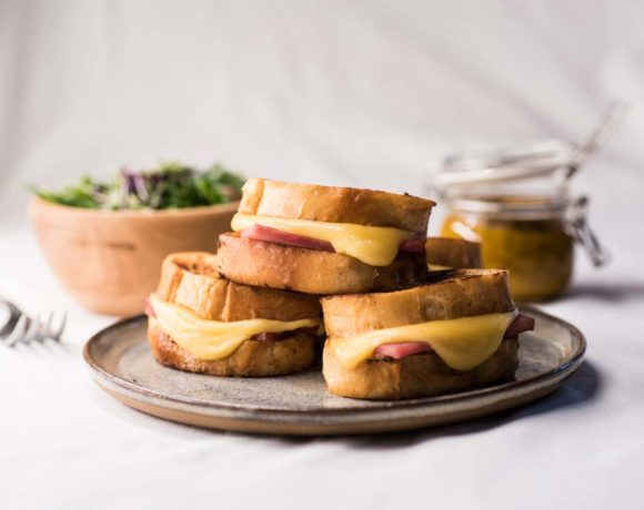 Beer soaked Monte Cristo sliders make great appetizers or brunch for entertaining.