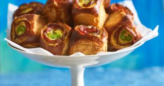 Jalapeño Egg and Ham Brioche Rolls recipe that make an easy and quick appetizer, brunch or snack.